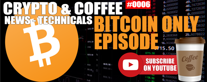 BITCOIN ONLY | BITCOIN TO $6,000 | Crypto And Coffee 0006 | Steemit.me