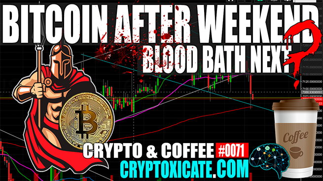 BITCOIN AFTER WEEKEND BLOOD BATH NEXT? – CRYPTO & COFFEE #0071