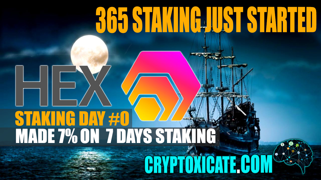 HEX 365 DAYS JUST STARTED – HEX STAKING DAY #000