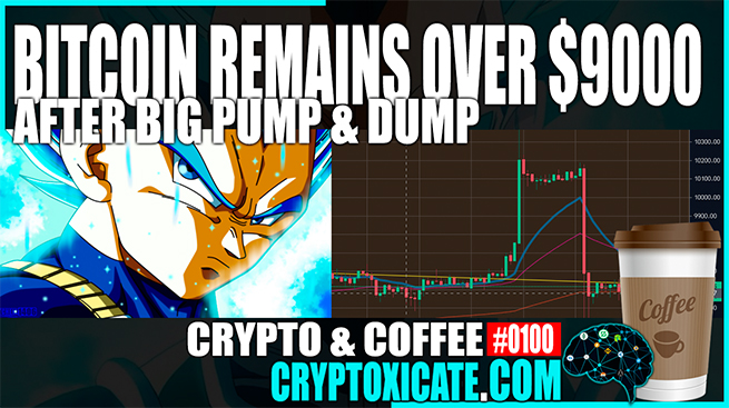 Bitcoin Remains Over $9000 – Crypto & Coffee #0100