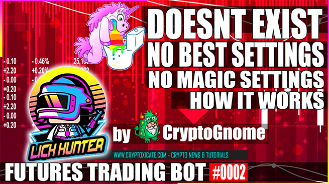 THERE ARE NO MAGICAL OR BEST SETTINGS – Lichunter Crypto Trading Bot